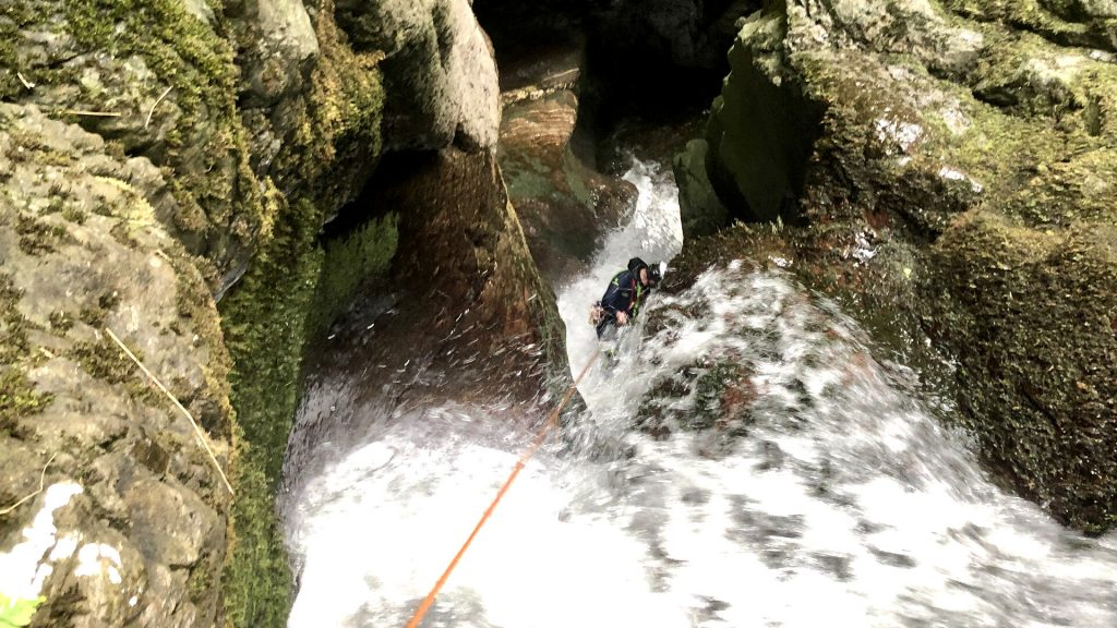 Alva Corkscrew Canyoning Section