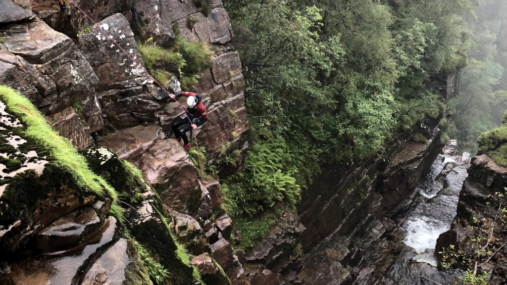 abseiling at pharaohs canyon