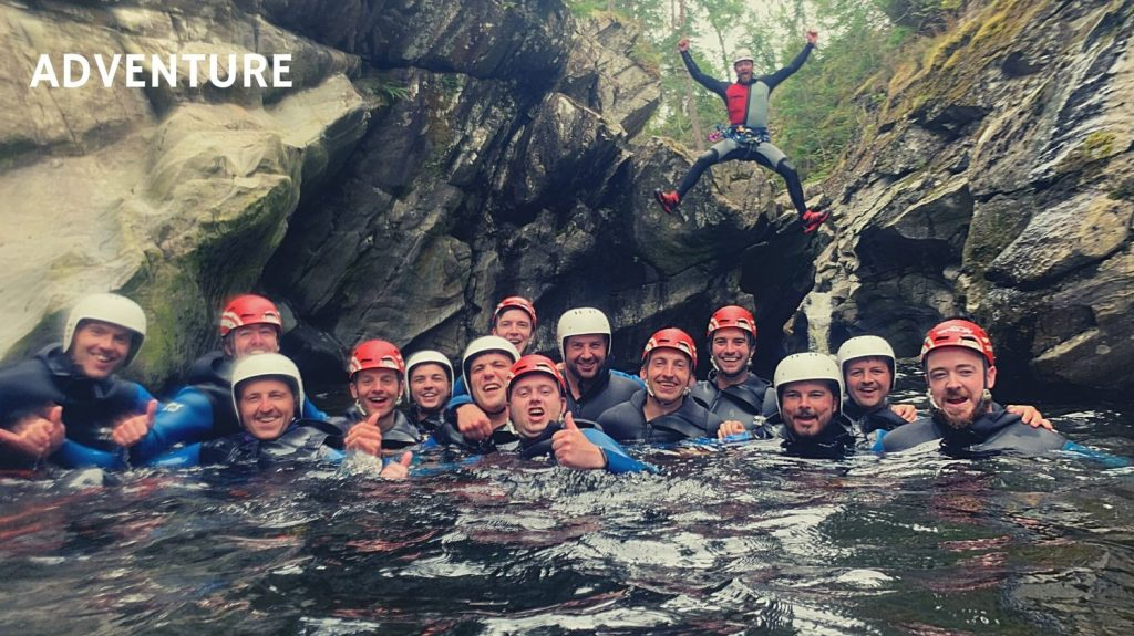Highland Stag Weekend Canyoning