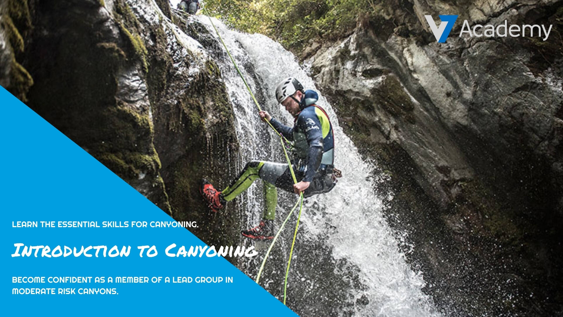 introduction to canyoning training course