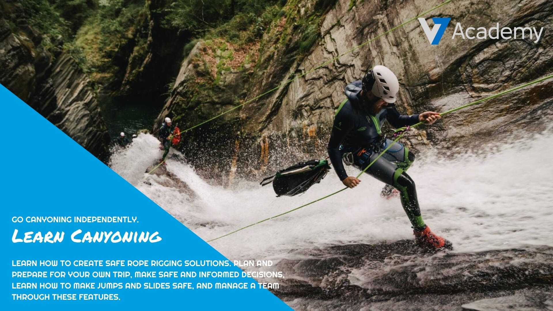 learn canyoning training course