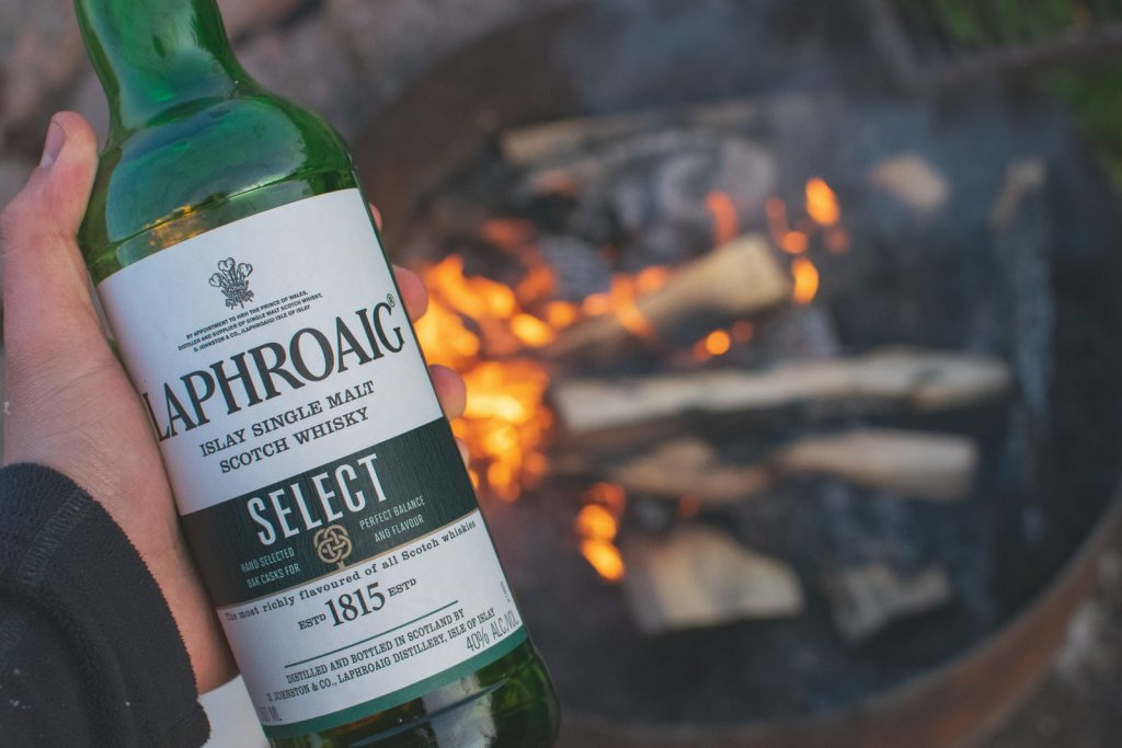 Laphroaig and fire