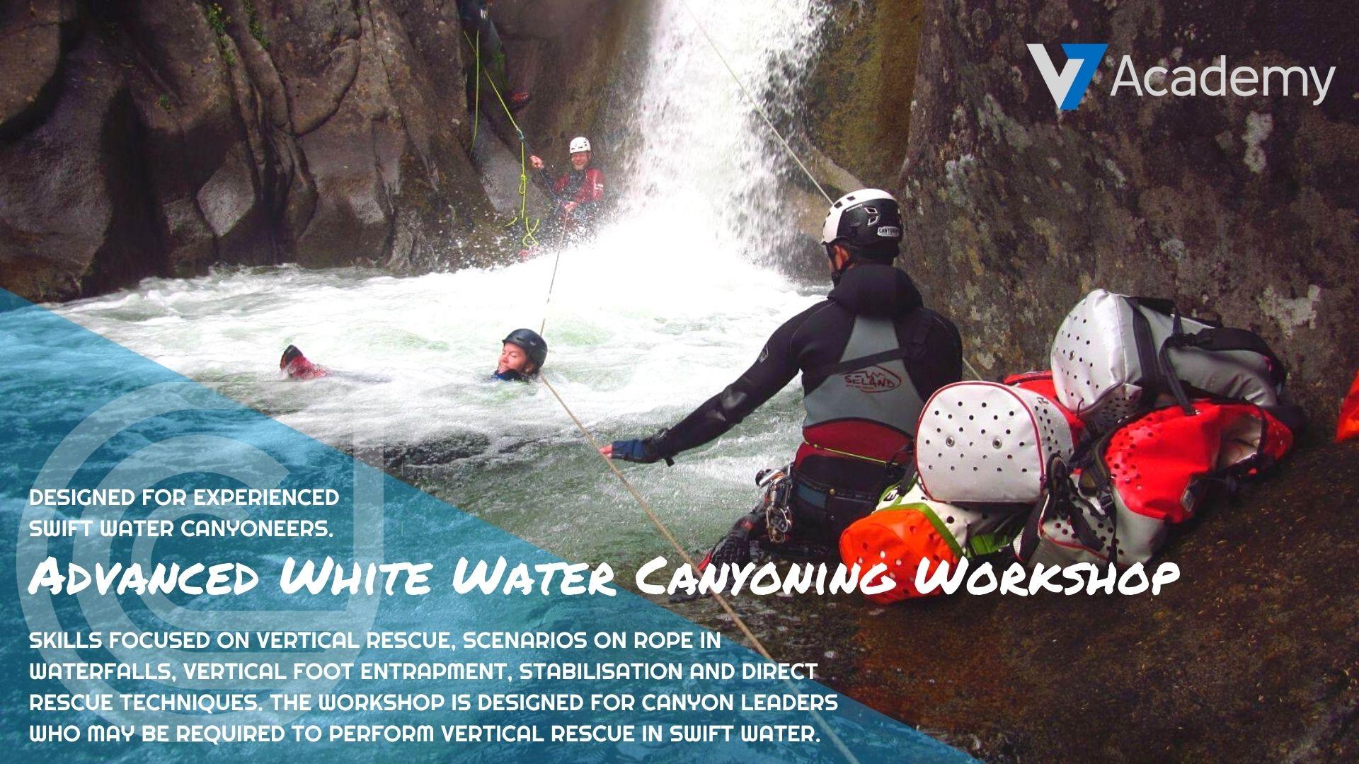 advanced white water canyoning training workshop