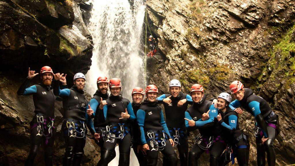 Visitor Group at Bruar Canyon